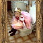 Princesse aux toilettes